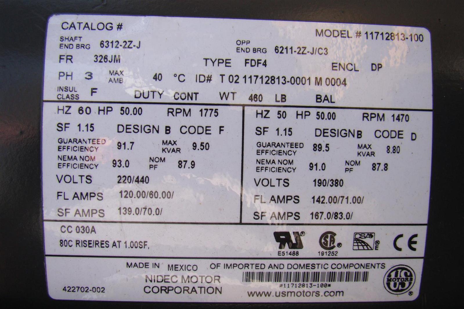 Us motors 50hp electric motor rpm17751470 220440190380v 6312 us motors 50hp electric motor rpm17751470 220440190380v 6312 publicscrutiny Images