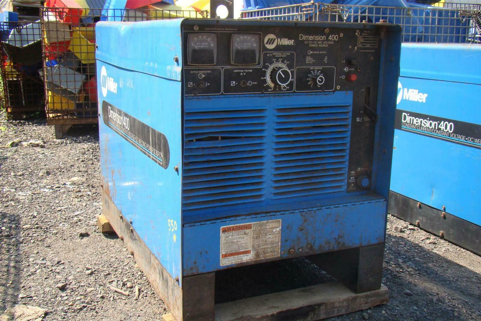 Miller Arc Welder >> Miller Dimension 400 Cc Cv Dc Arc Welder 3 Phase 902970 Mig Tig