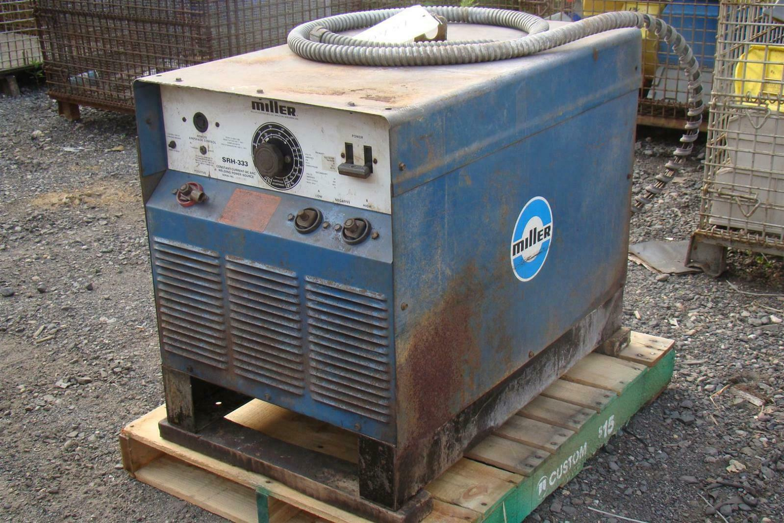 Miller Welders For Sale >> Details About Miller Constant Current Dc Arc Welder Ja381131 Srh 333 Tig Stick 3 Phase