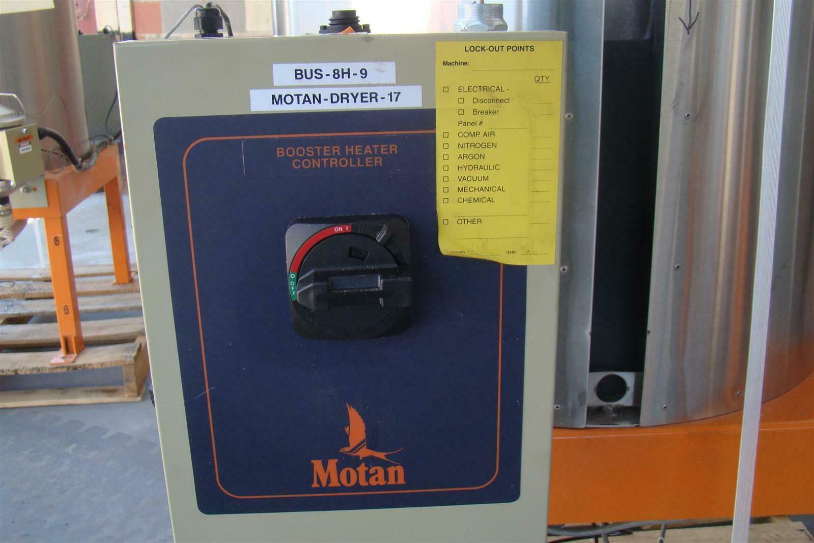 MOTAN STAINLESS STEEL PELLET DRYER 17 BUS-8H-9 BOOSTER HEATER CONTROLLER