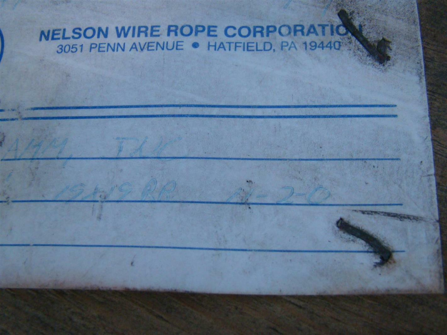 Nelson Wire Rope 1/2\
