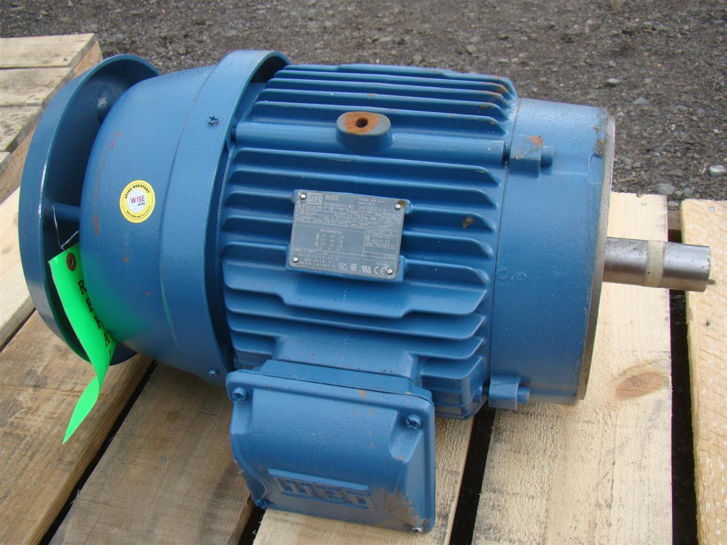 Weg 3 Phase Electric Motor Inverter Duty 5 Hp 2940 Rpm
