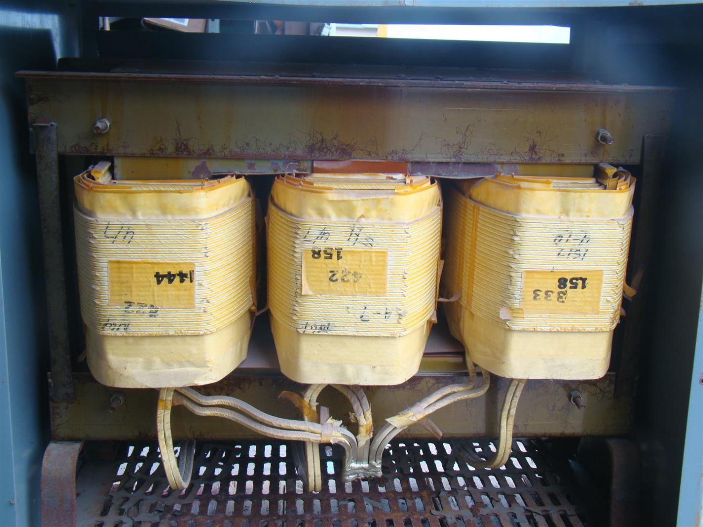 Square D 3 Phase 75 KVA Transformer 600x208Y 120 Volt 75T8H 34360 17312