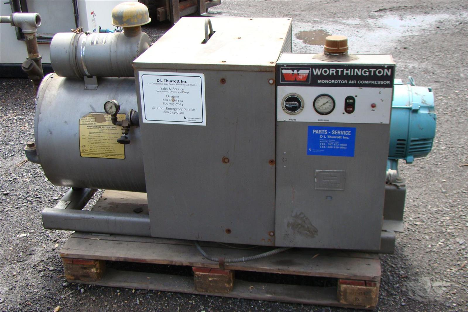 Worthington 30 Hp 3 Phase Monorotor Air Compressor Rs 120 B Ebay C Wiring Diagram