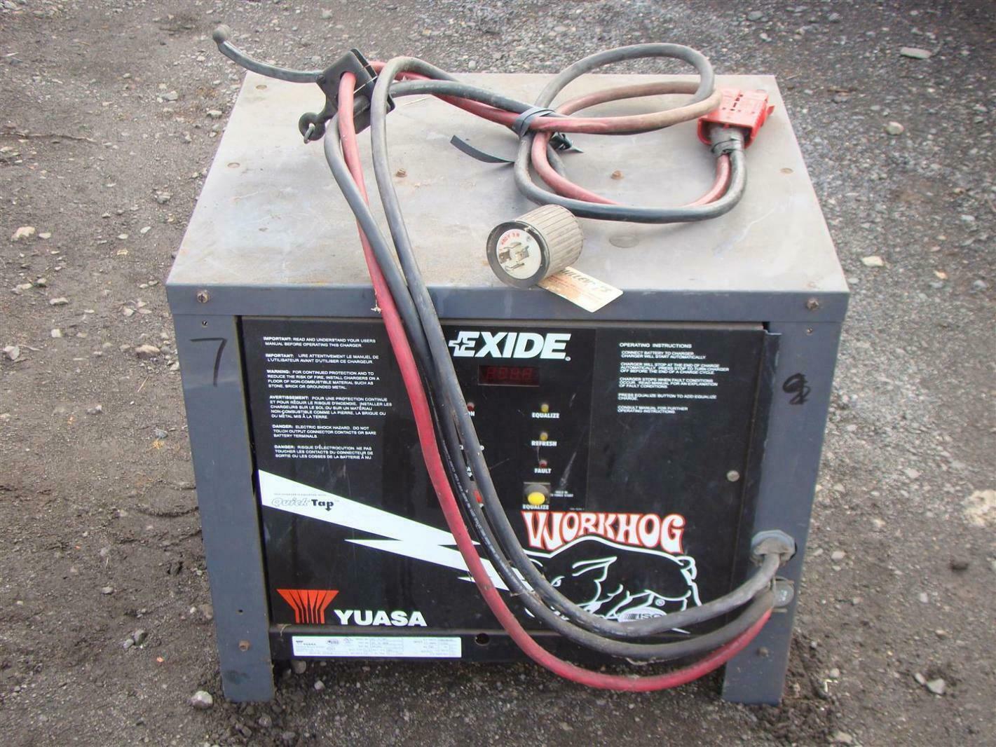 Exide Workhog 24vdc Forklift Battery Charger 865ah 208 240 480v W3 Hobart Wiring Diagram