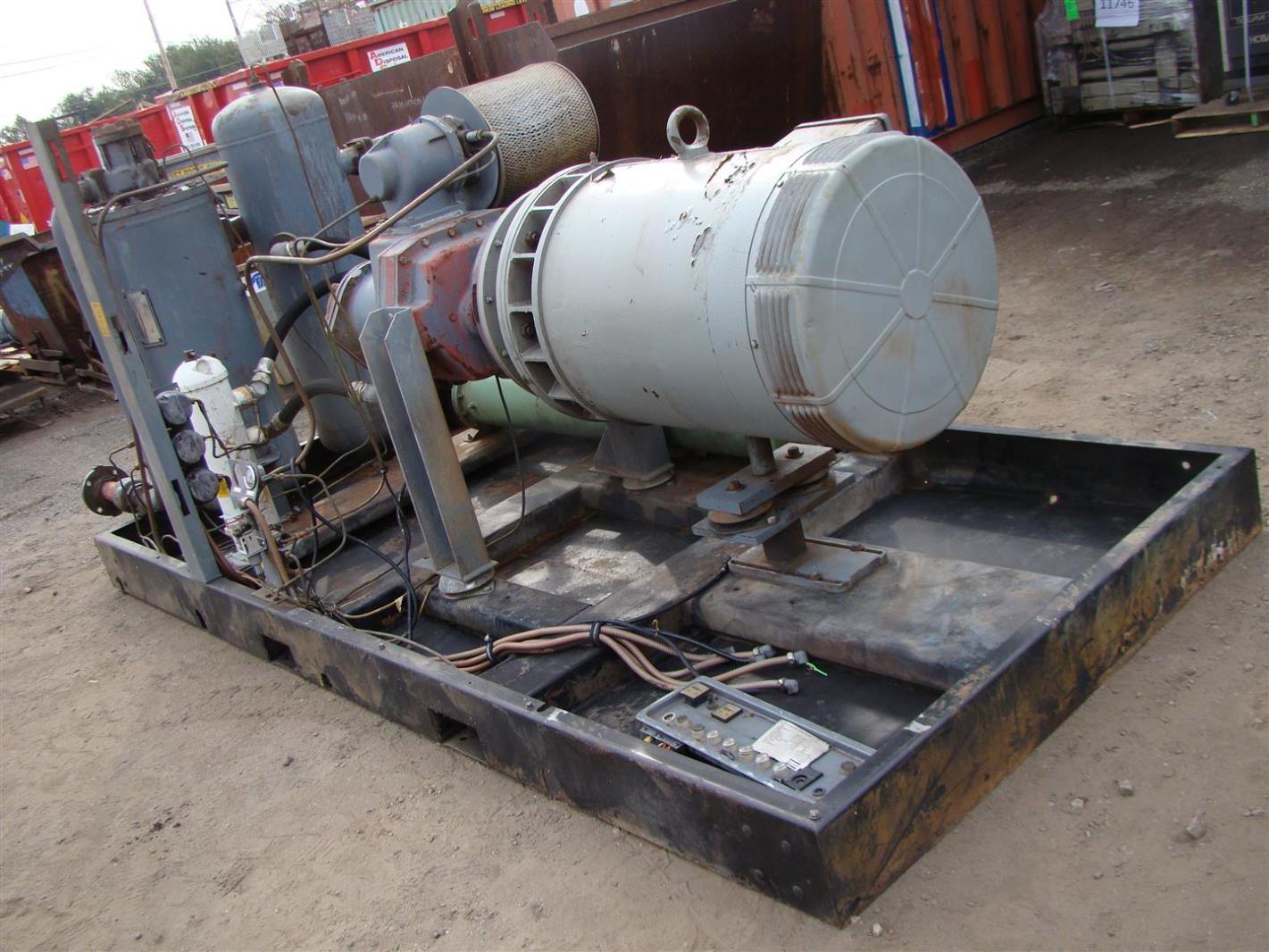 318Vn Motor//Engine: 208-230//1 Two Stage H318Vn Lbs. Wt. Tank: 80V : 432 100 Psi: 18.50 Cfm Displ.: 22.43 Atlas Copco Compressors H.P.: 5.0