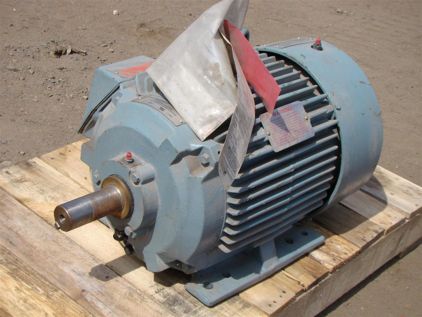 Reliance Electric AC Motor 15HP, 1765 RPM, Frame: 254T (460v/3PH ...