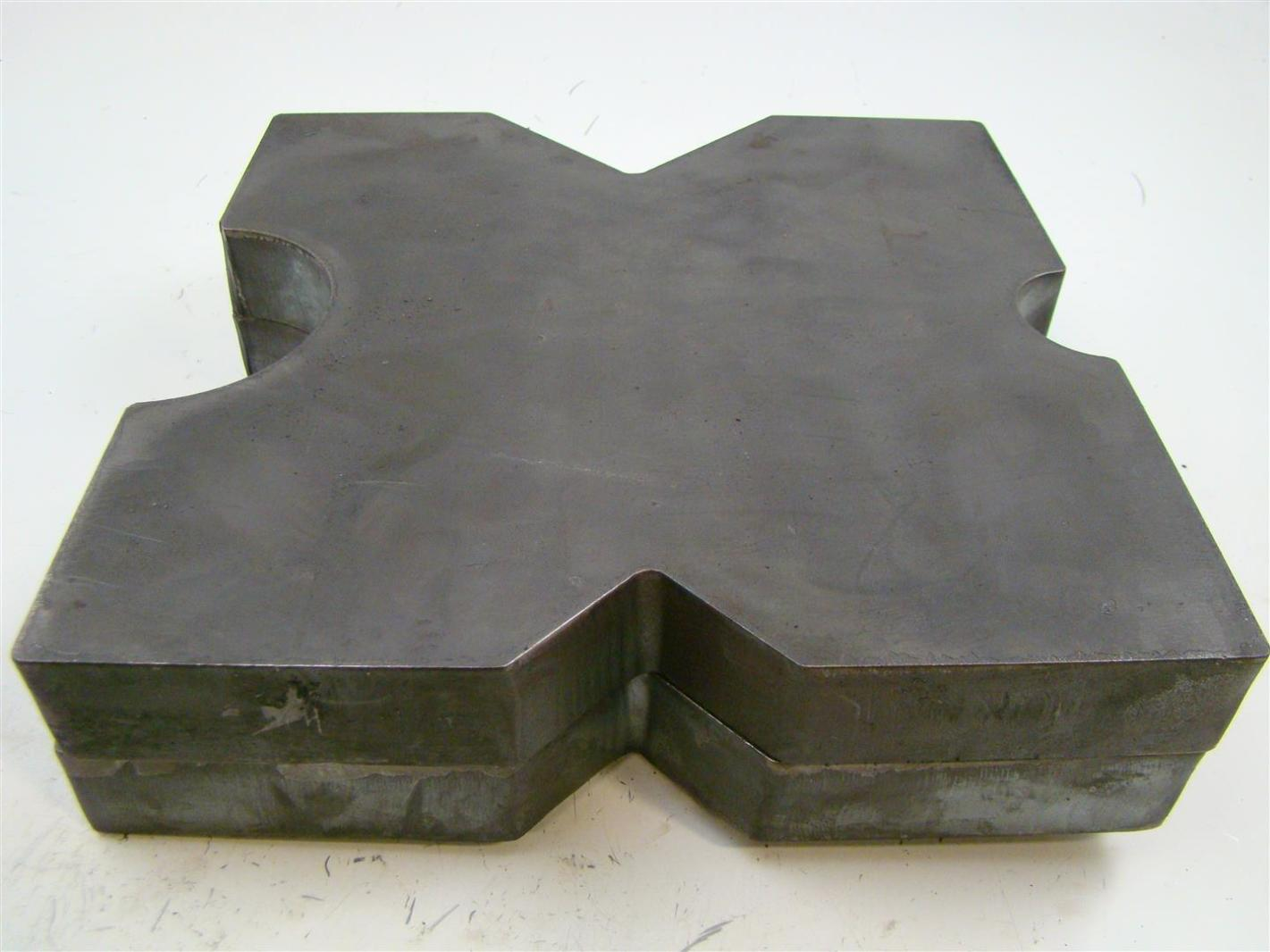 V-Cut Hydraulic H-Frame Shop Press PAIR 8.5x10 Arbor Plates 1.5 Thick