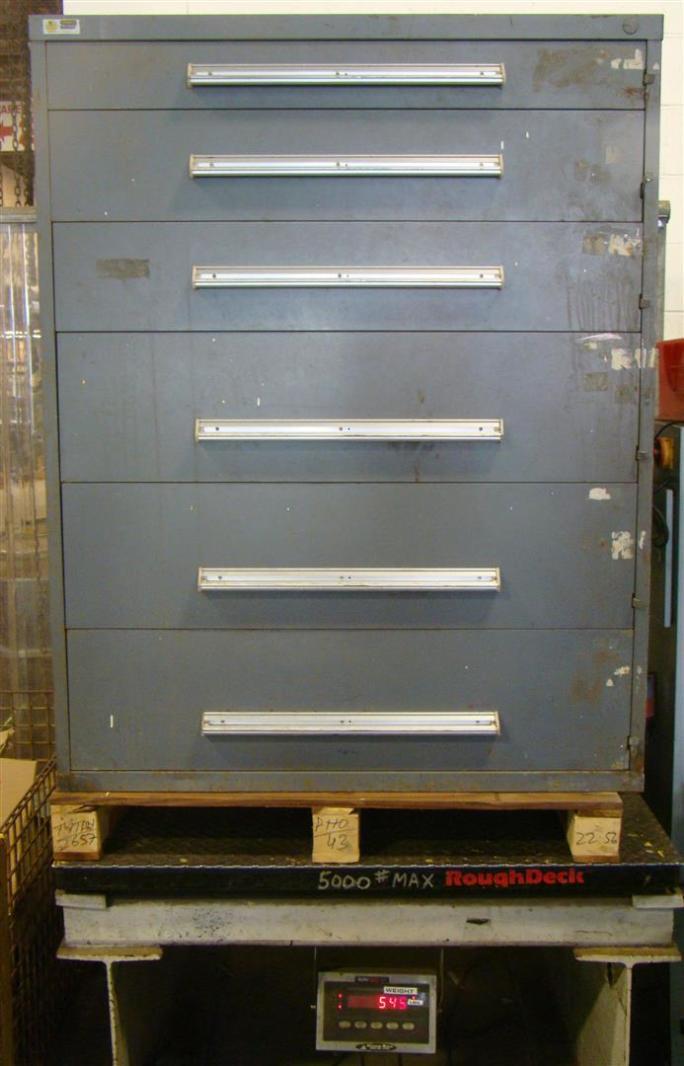 Stanley Vidmar 6 Drawer Tool Storage Cabinet Grey 45x27 1