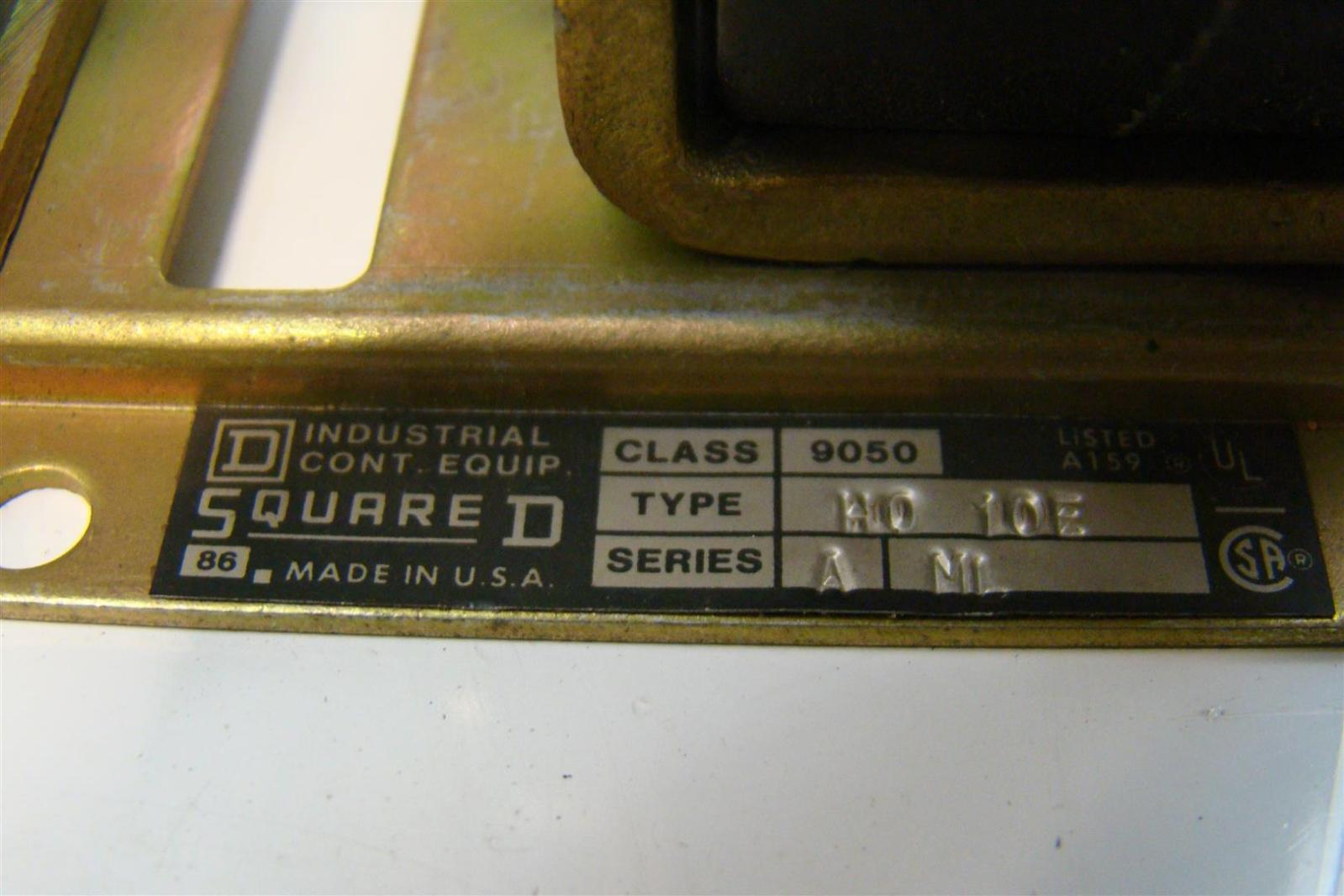 Square D 152VDC Contactor Coil Assembly Class 9050 H010E