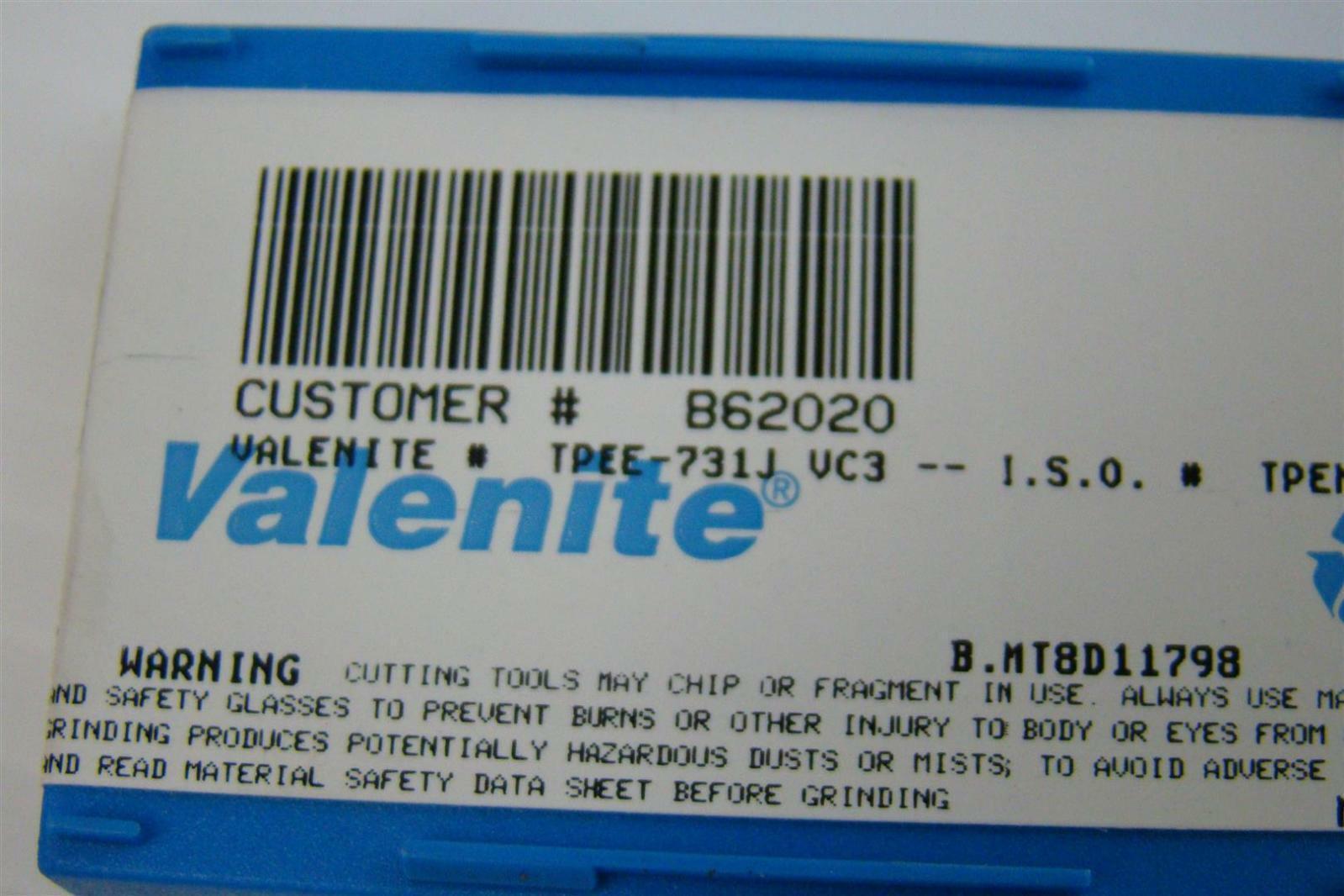 Valenite Cutting Tools Inserts B62020