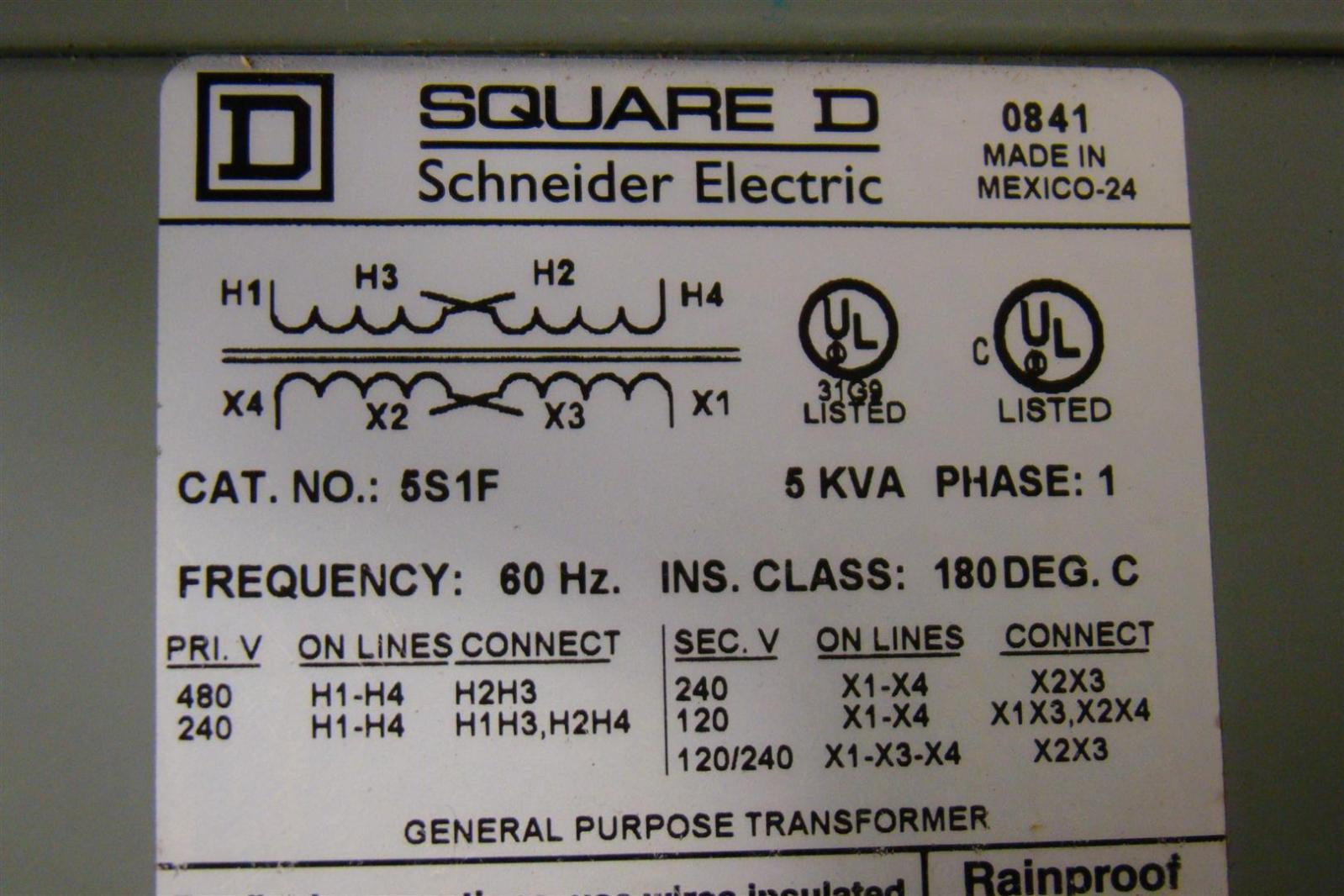afn172 square d 5 kva transformer ph1 480 240 x 240 120 5s1f 6 square d 5 kva transformer ph1 480 240 x 240 120 5s1f ebay 5kva transformer wiring diagram at mifinder.co