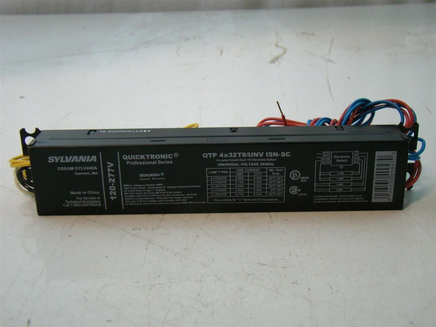 sylvania quicktronict8 ballast 120 277v qtp 4x32t8 unv isn sc ebay  details about sylvania quicktronict8 ballast 120 277v qtp 4x32t8 unv isn sc
