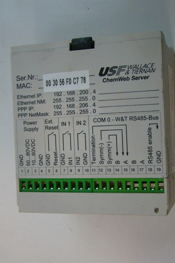 USF Wallace /& Tiernan ChemWeb Server 3002 AAC5563