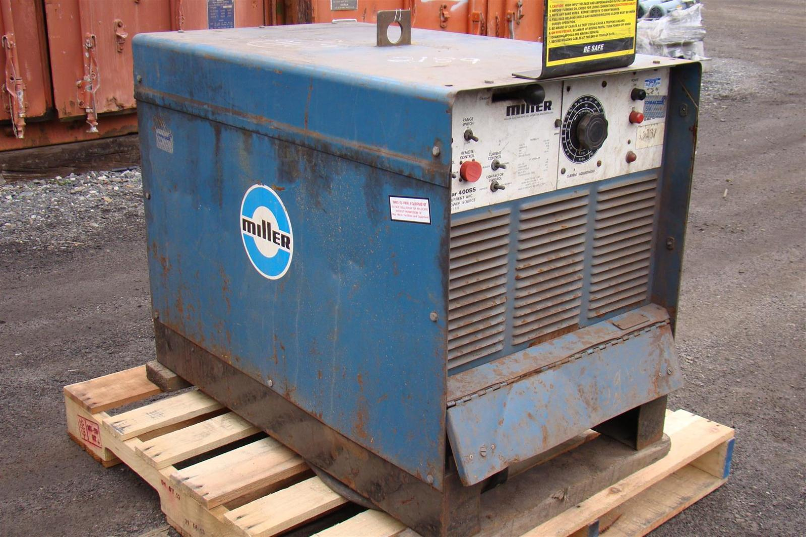 Miller Arc Welder >> Miller Gold Star 400ss Direct Current Arc Welding Power Source 76