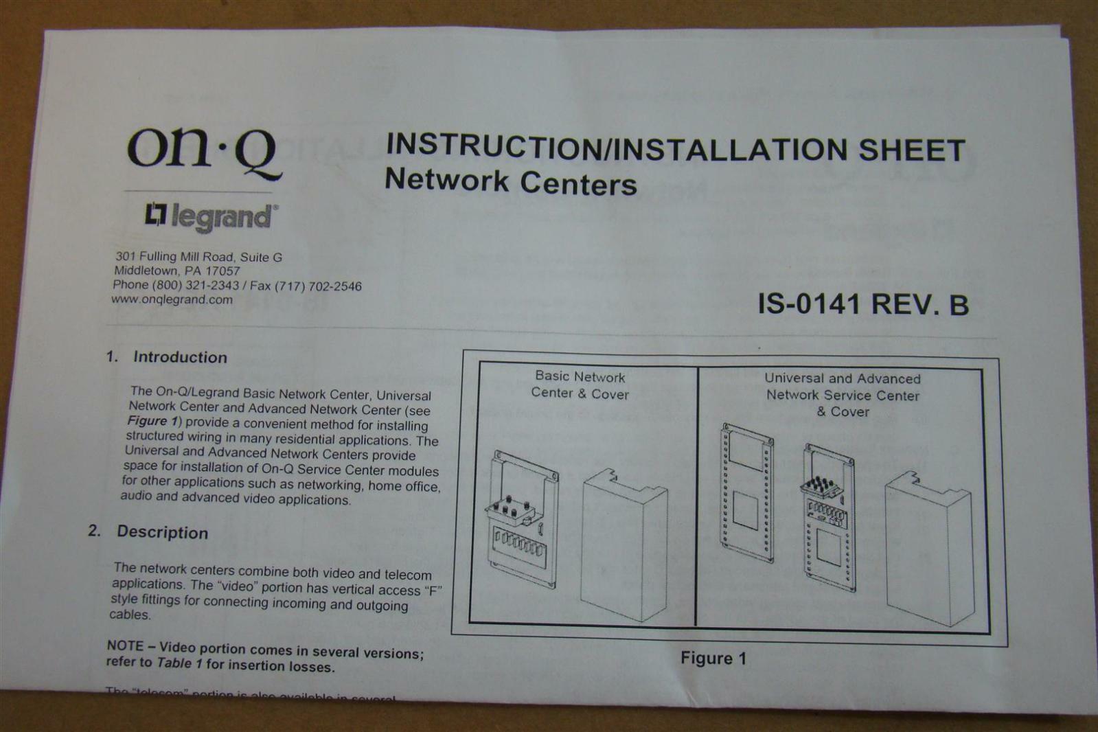Legrand Onq Pn 100057 01 4way Splitter 5 1000mhz 130db Rfi 364397 Wiring Diagram