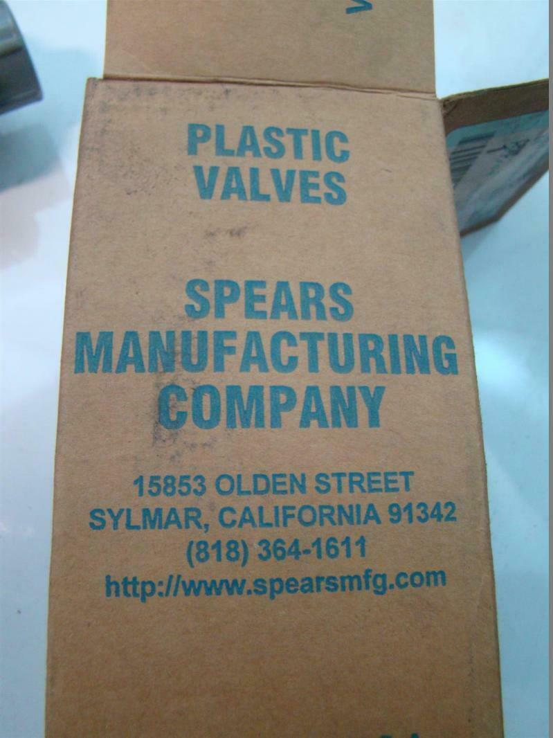 Spears Plastic Valves True Union Ball Valve Socket/Thread 3/4 235psi 2339-