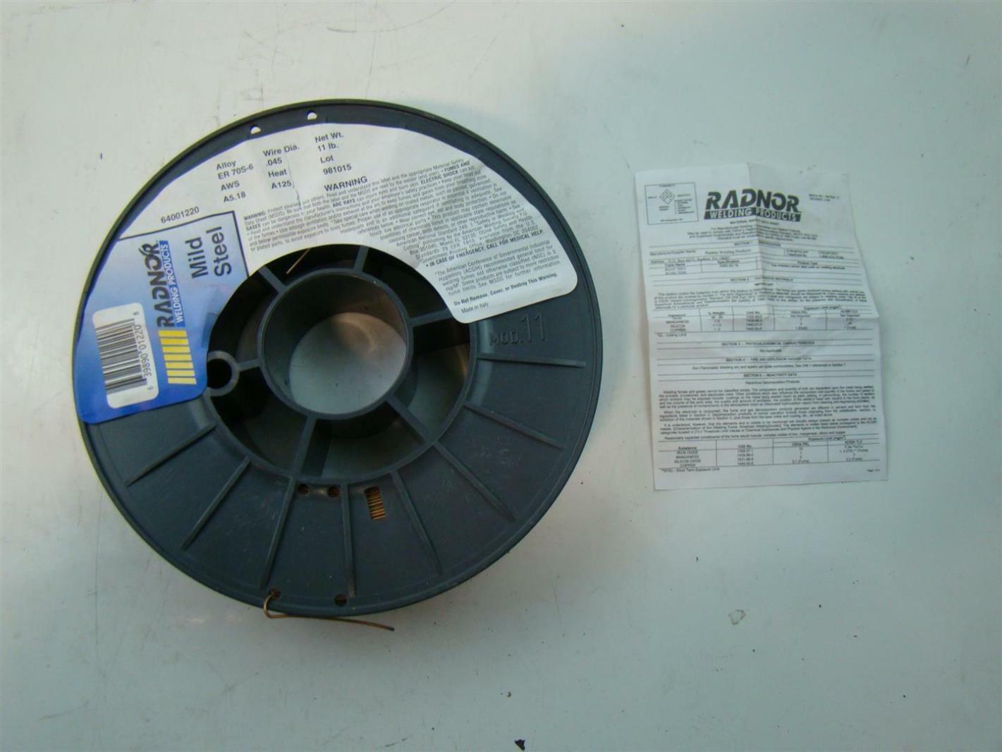Radnor Welding Products Mild Steel 64001220 .045 Wire Dia. 981015 ...