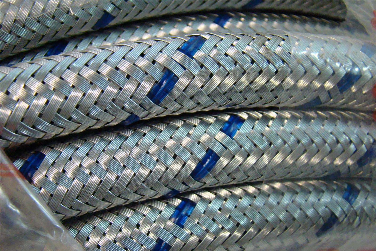 Braded Flexible Galvanized Steel Cable Conduit Pvc Coating 12mm Id Wiring 175mm Od