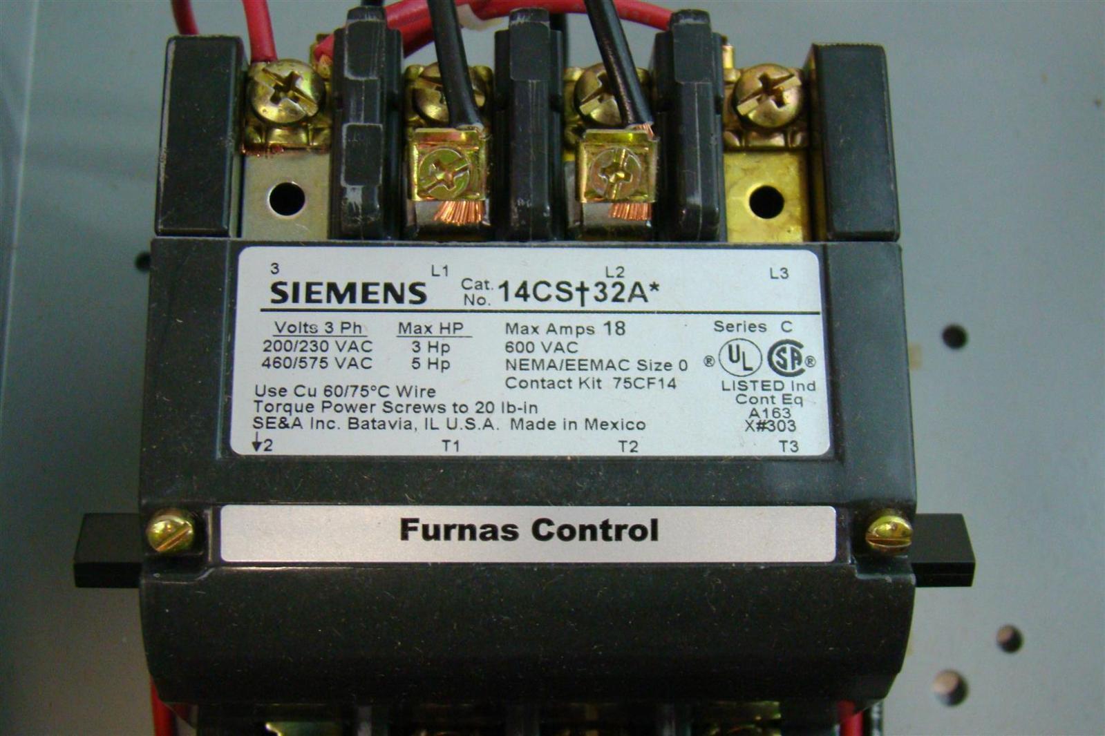 Siemens Heavy Duty Motor Starter Class 14 Magnetic Starter 3Ph 200 ...