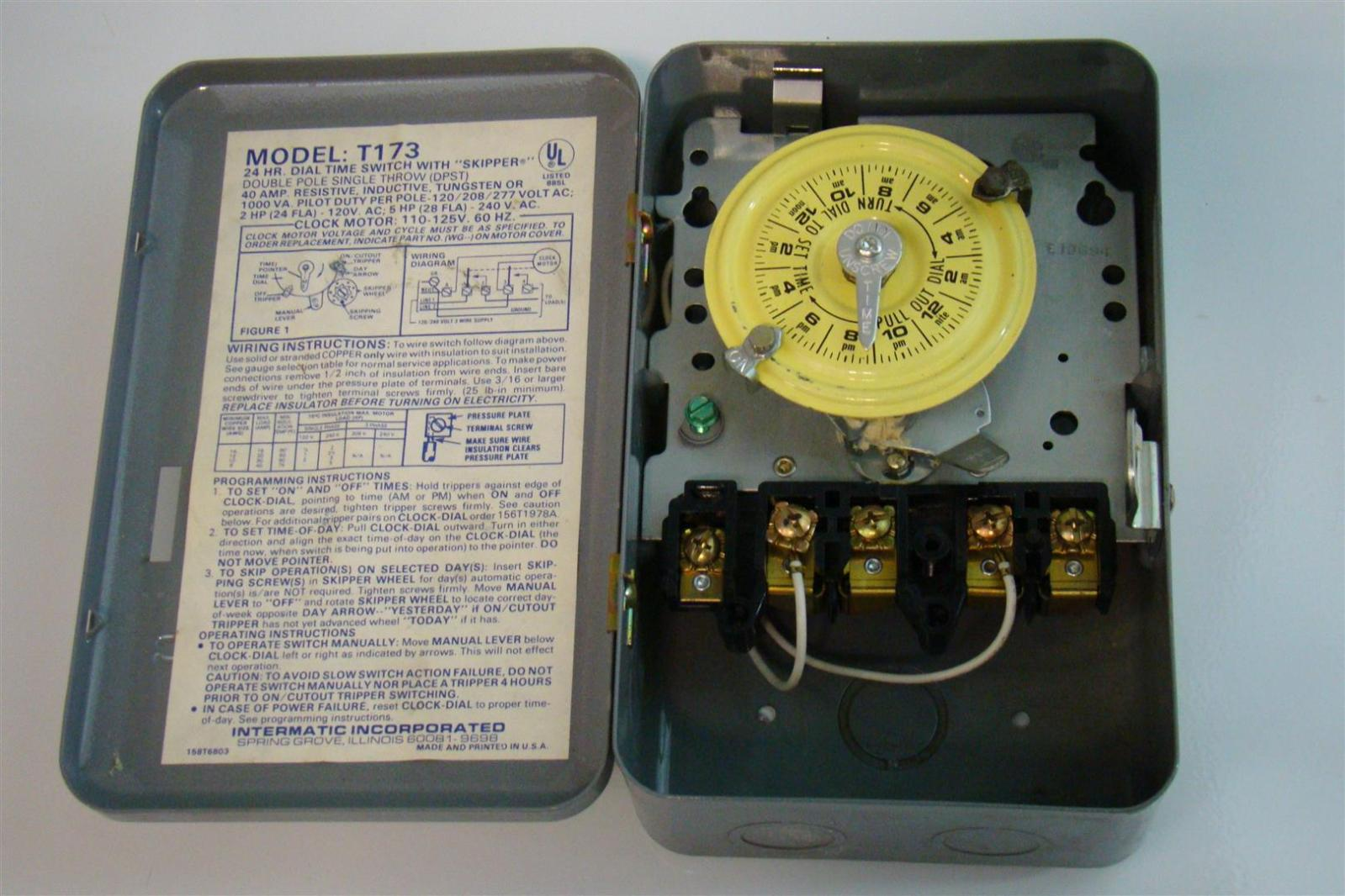 Intermatic Time Clock Switch Wiring Diagram Dial With Skipper Double Pole Single Throw Vac Age 1599x1066