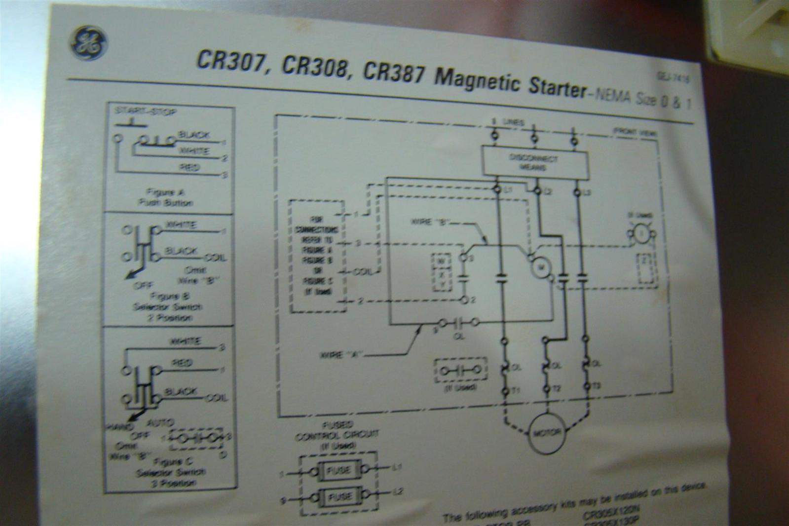 Ge Motor Starter Wiring Diagrams Schematic Soft Start Diagram Transformer Magnetic
