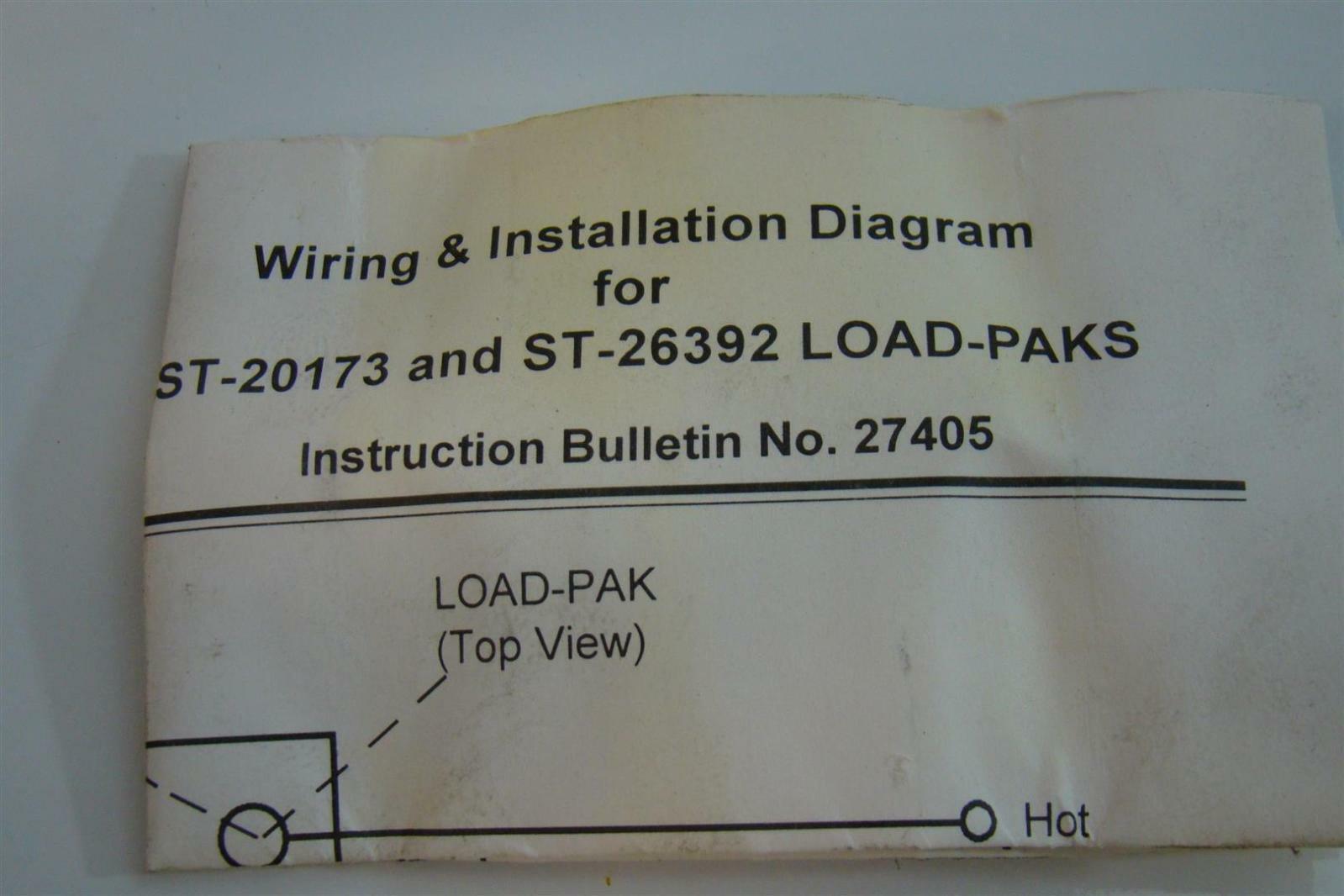 Gem Sensors Wiring Diagrams 2001 Ford Windstar Engine Diagram Car On Gems Load Pak 24 260vac 10amps St 26392 Ebay