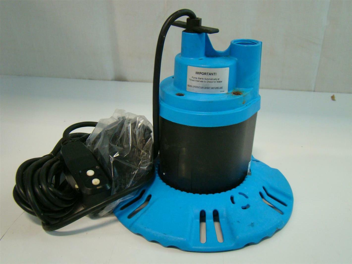 Flotec Submersible Pool/Spa Cover Pump 115V 8 5Amps 1/4HP 25' FP0S1790PCA