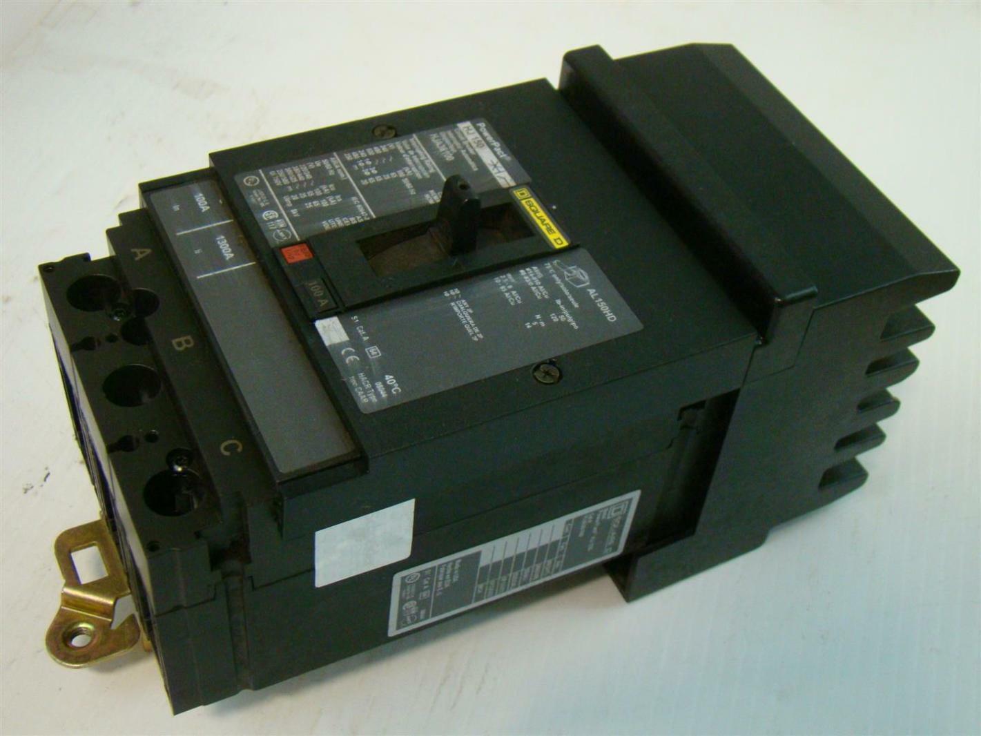Square D I Line Circuit Breakers Data Wiring Diagrams Homeline Breaker Hj 150 100a Powerpact Hja36100 Rh Ebay Com Fa
