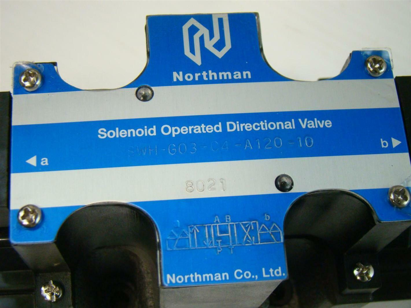 Northman Solenoid Operated Directional Valve 8021 Swh G03