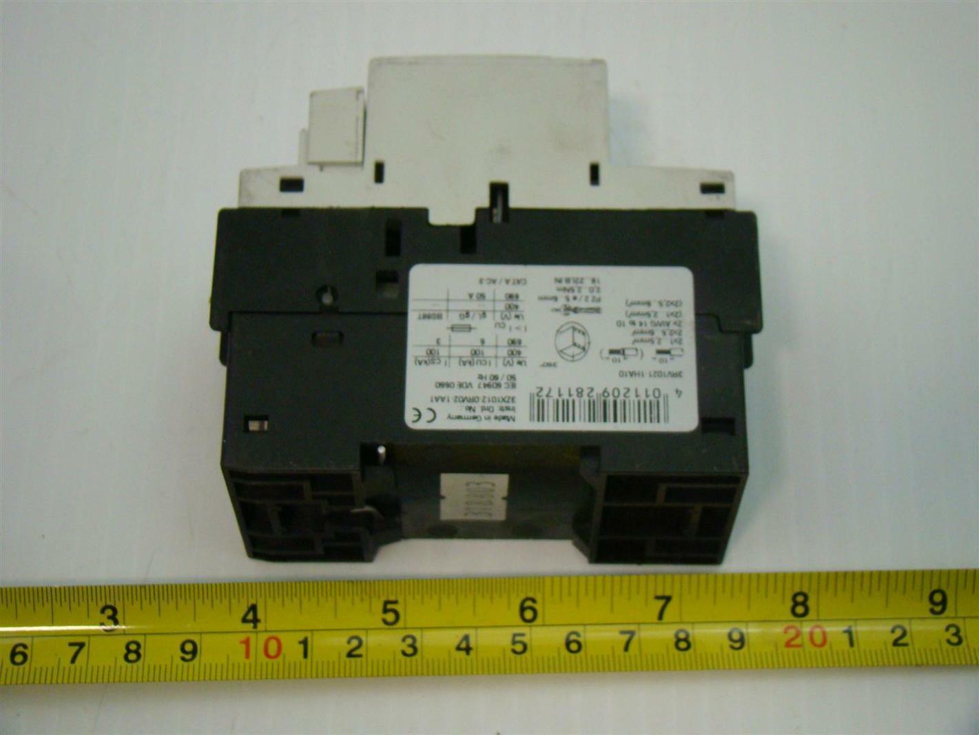 Siemens Motor Overload Protector 200 208v 30a 3ph 3rv1021 1ha10 7277 5 1 Amp Klixon Circuit Breaker Ebay