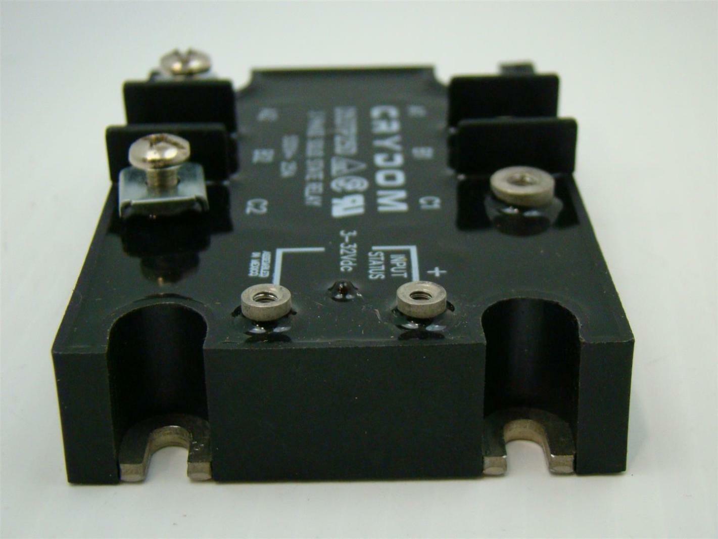 Crydom Solid State Relay SSR 3PH 25A 530V 332vdc Coil D53TP25D eBay
