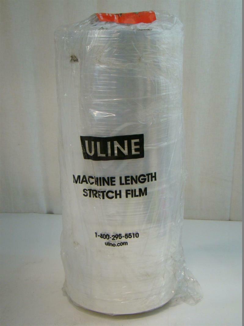 Uline Machine Length Stretch Film Wrap Cast, 90 gauge, 20