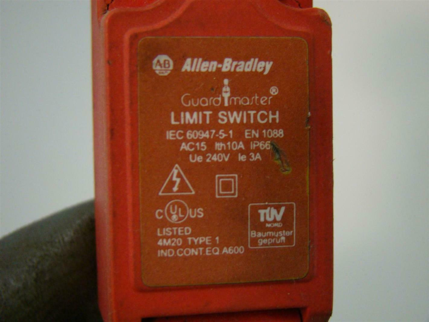 Allen Bradley Guard Master Limit Switch 240v Iec 60947 5 1
