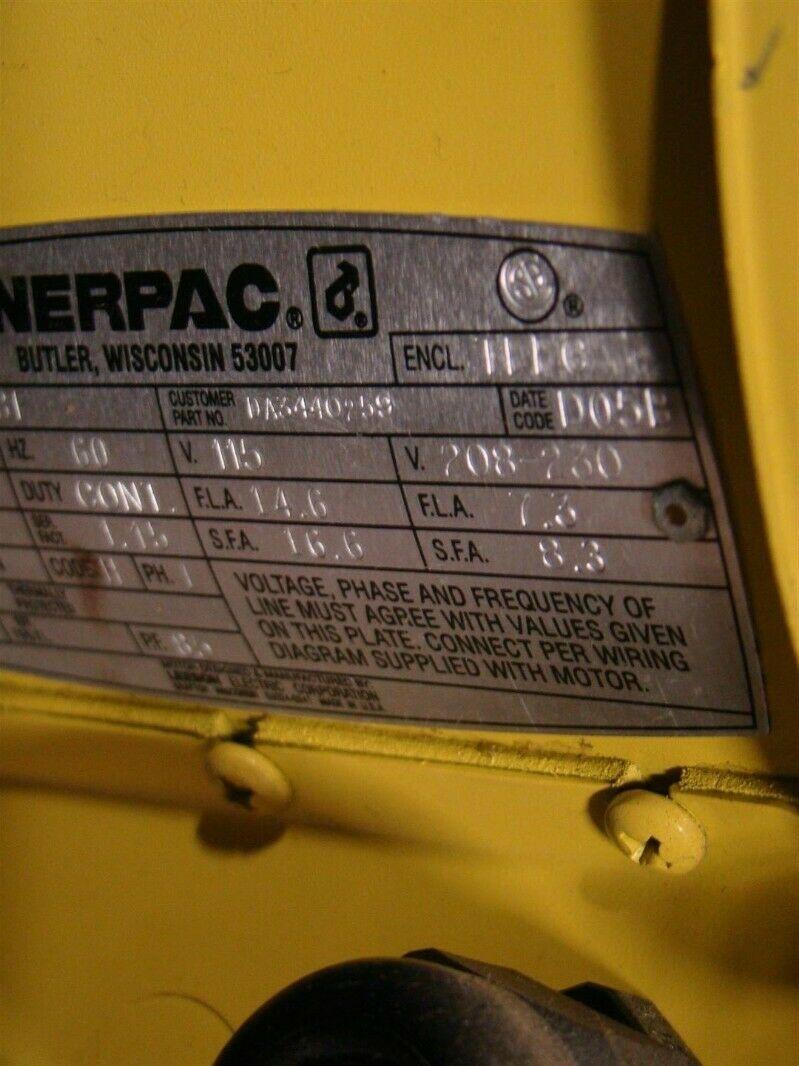 Enerpac ELECTRIC HYDRAULIC PUMP 5000PSI/350bar VST2210D
