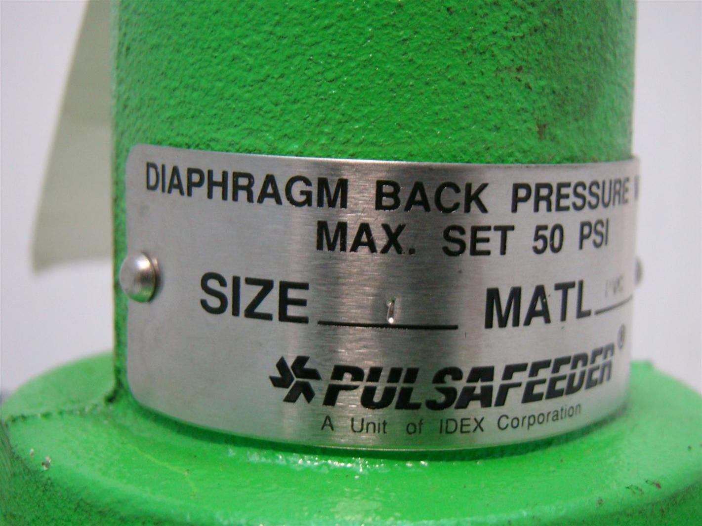 Pulsafeeder diaphragm back pressure valve 50psi w20256 pvc ebay pulsafeeder diaphragm back pressure valve 50psi w20256 pvc ccuart Image collections