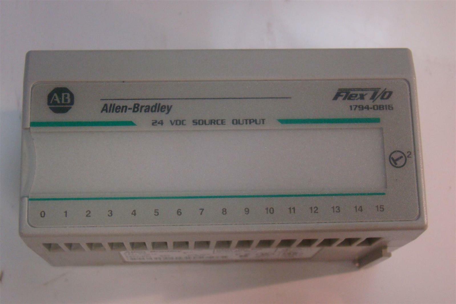 Allen Bradley 24 VDC Output Module 1794-OB16 1794-0B16 Ser A 96221874 Rev  A01