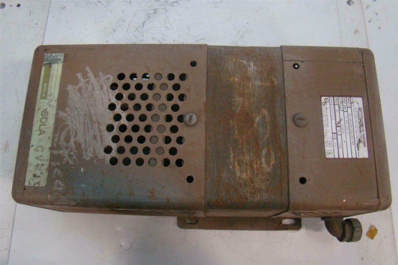 Sola Harmonic Neutralized Constant Voltage Transformer Type CVS 23 ...