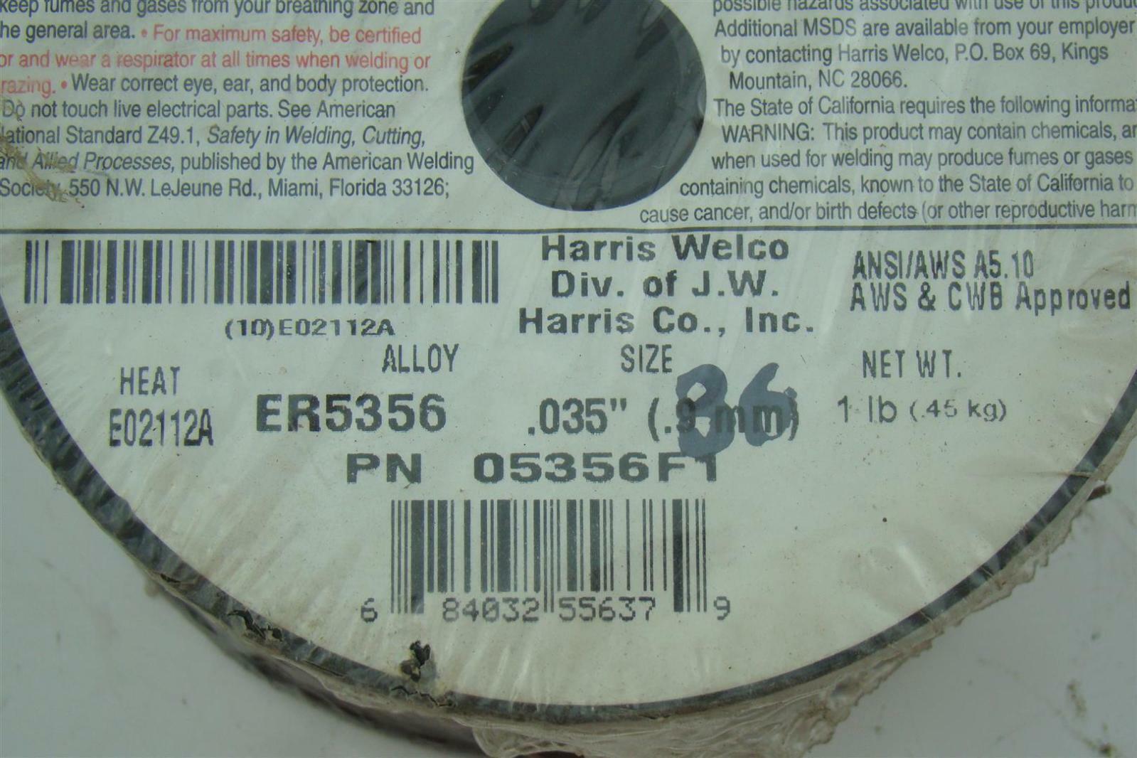 Harris Welco Aluminum welding wire ER-5356 684032556379 | eBay