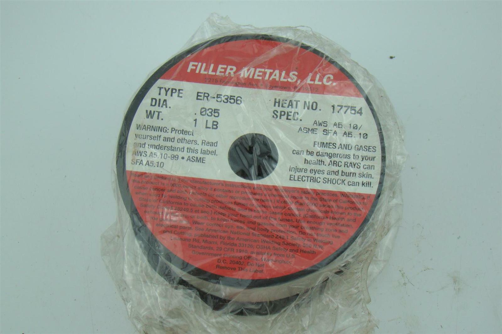 Filler Metals, LLC Aluminum Welding Wire ER-5356 | eBay