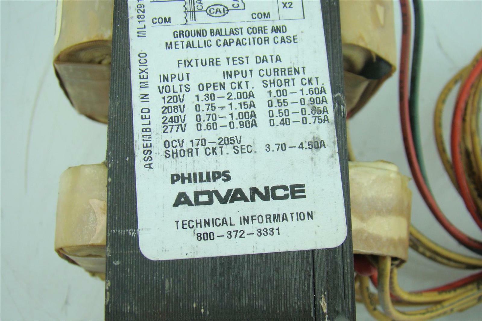 PHILIPS ADVANCE 71A8291 BALLAST 250 WATTS HIGH PRESSURE SODIUM ...