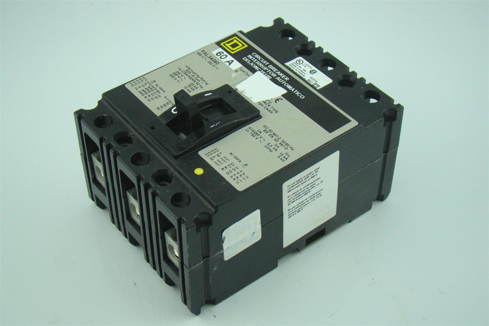 Details about Square D 60 Amp Thermal Magnetic Circuit Breaker FAL34060