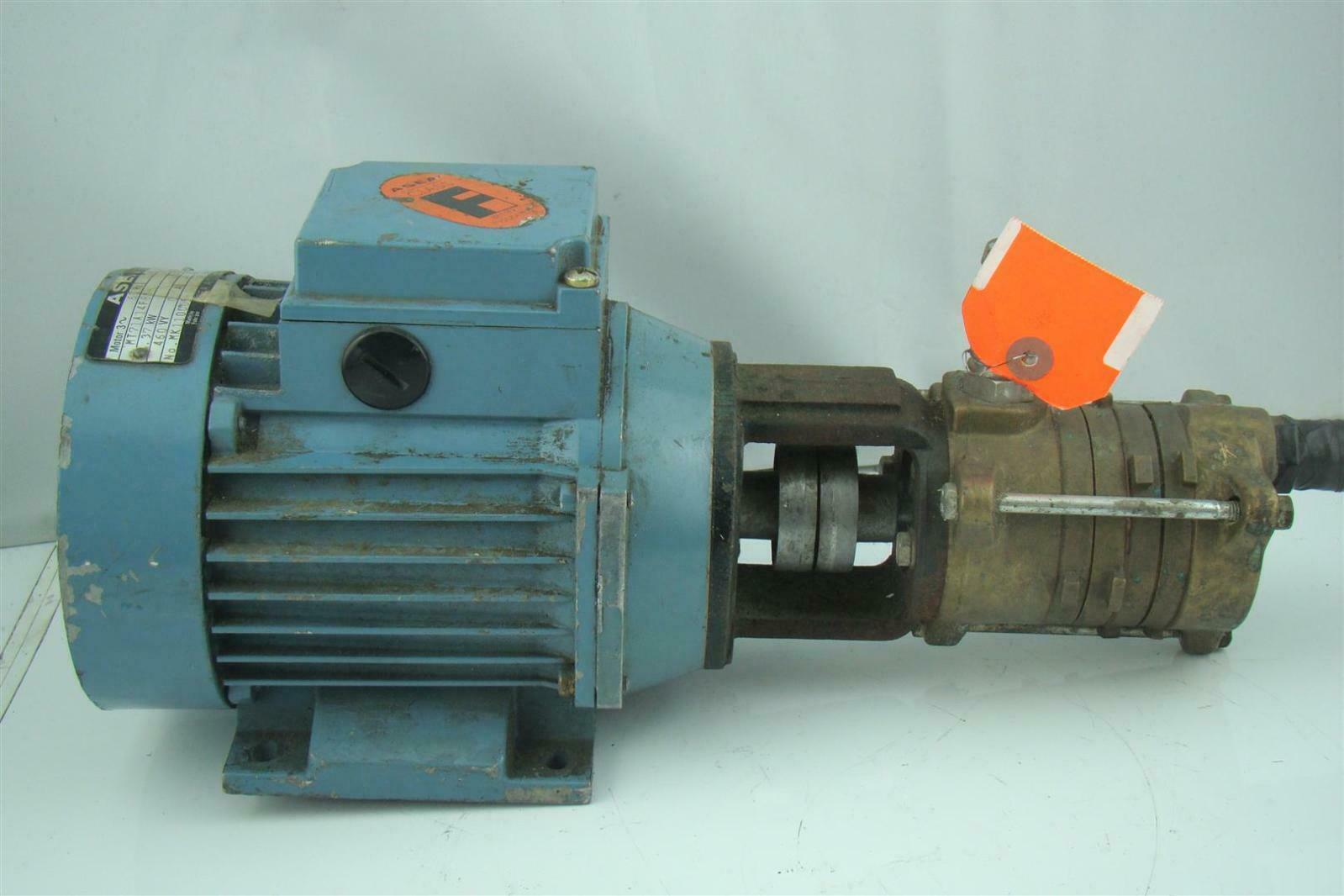 Asea hydraulic pump electric motor 3470rpm mt71a14f85 2 ebay for Electric motor hydraulic pump
