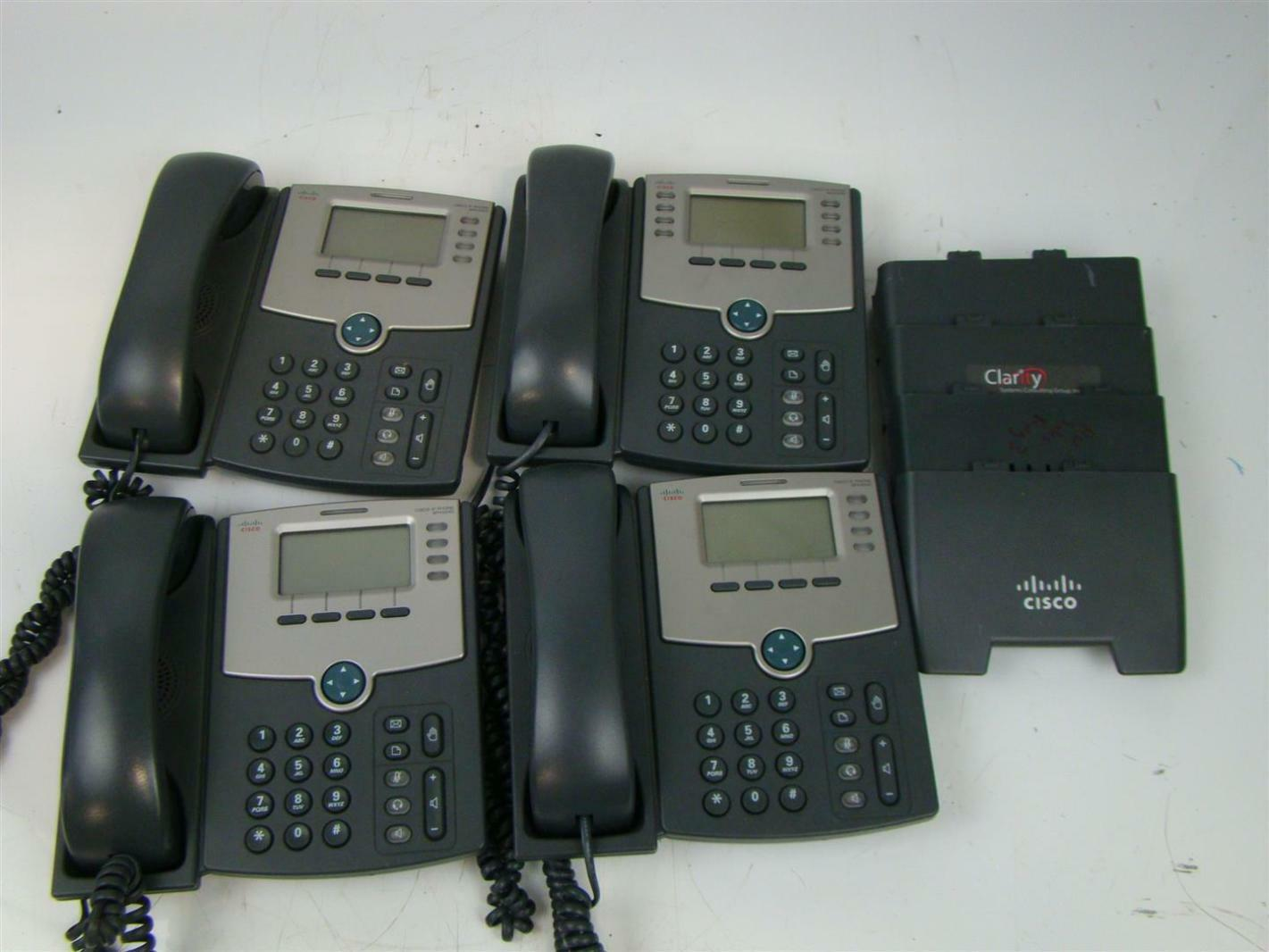 Details about 4 CISCO IP PHONES SPA5046 4 LINE IP PHONE WITH DISPLAY  CBT1441013B