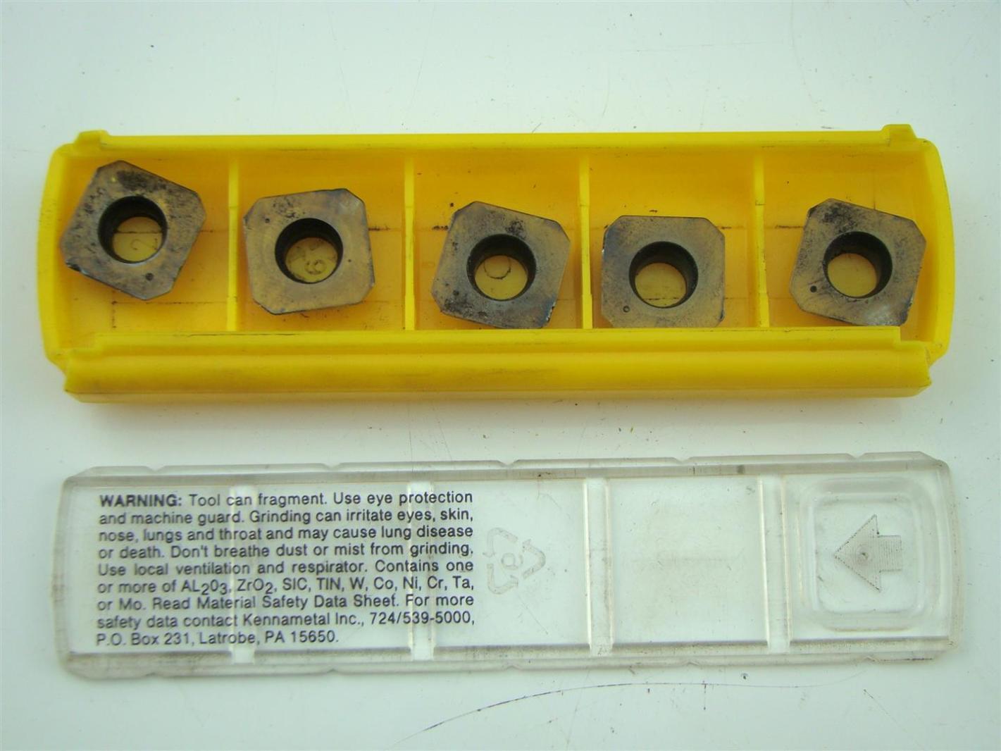 kennametal inserts. (5) kennametal carbide milling inserts - sehw1204aftn kc725m kennametal inserts o