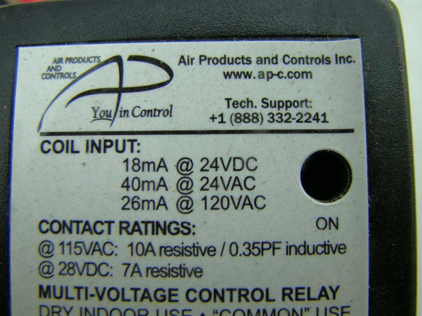 Air Products And Controls Multi Voltage Control Relay Ric 2 Dpdt Ebay Coil Pickup