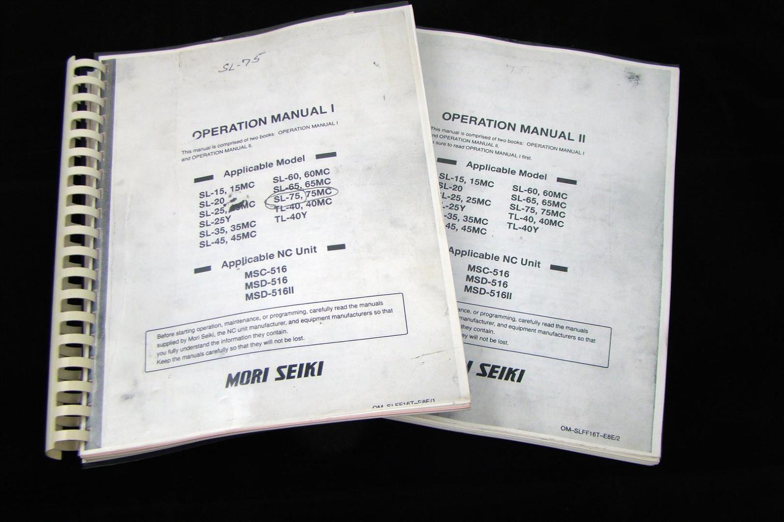 mori seiki manual de operaci n i ebay rh ebay com Mori-Seiki Forums Mori-Seiki Turret Manuals