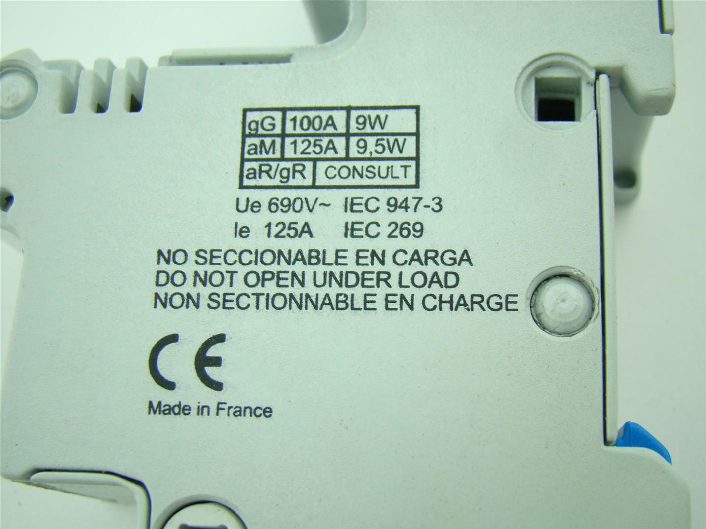 Fuse Box Cms Complete Wiring Diagrams Components Ferraz Shawmut 125a Holder Din Rail Mount 22x58 22 H214137 Rh Ebay Com Cost Customer Support Number