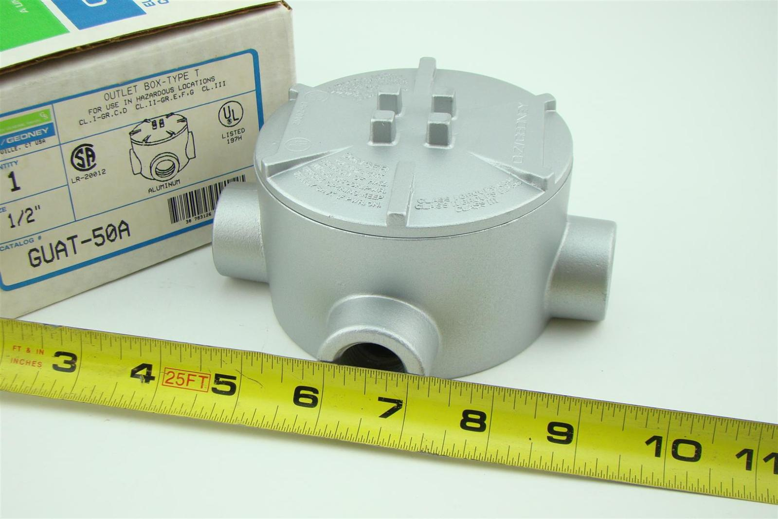"""New OZ GEDNEY GUAT-50A 1//2/""""  OUTLET BOX T TYPE"""