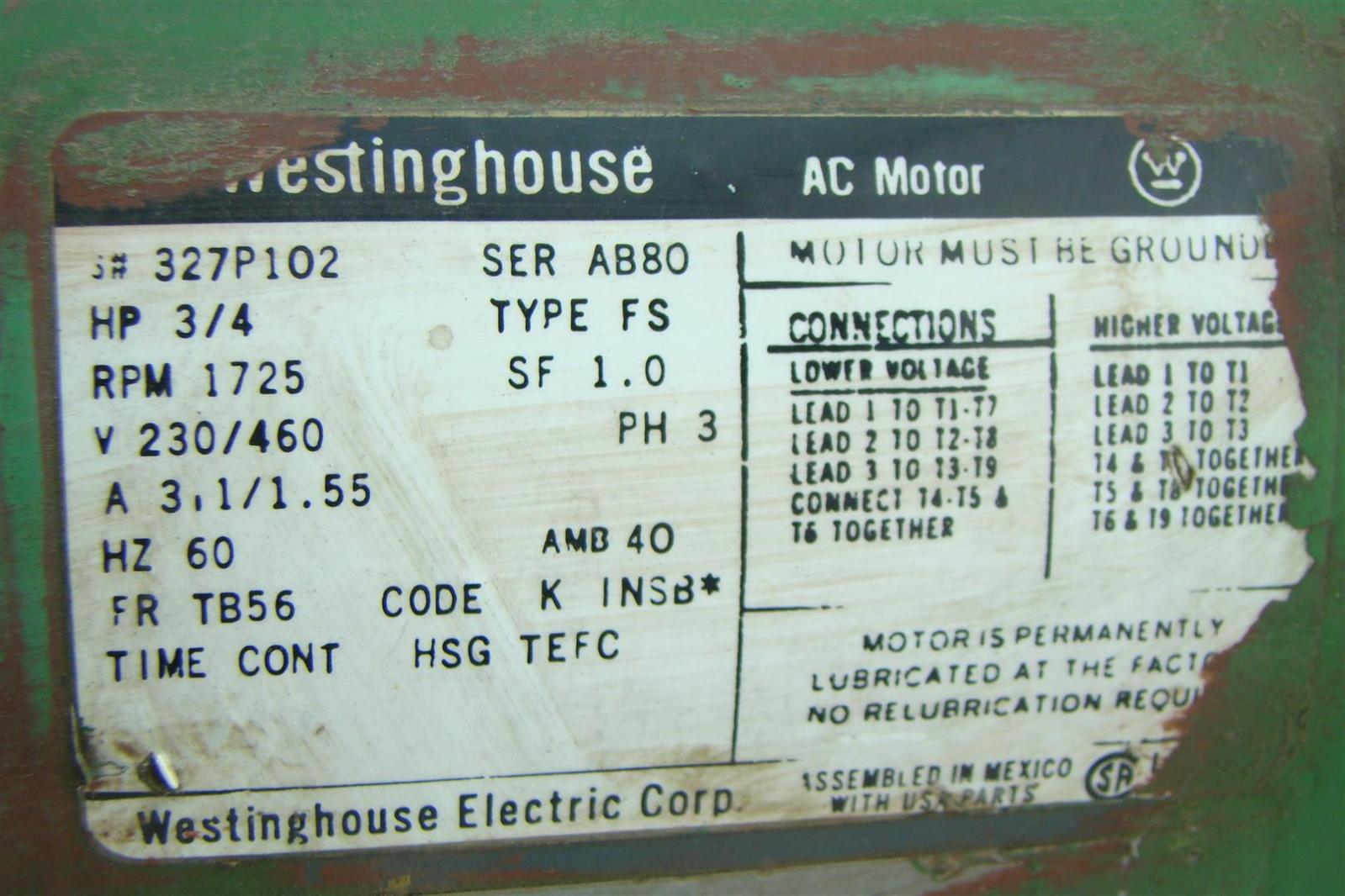 Westinghouse Ac Motor Wiring Ground - Schematics Wiring Diagrams •
